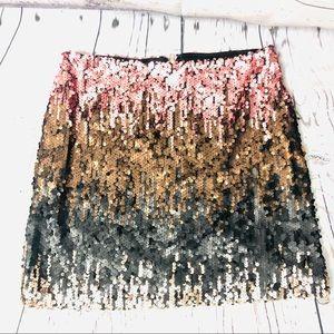 MINKPINK Moon Dust Sequin Obre Mini Skirt Pink S